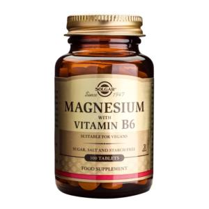 solgar magnesium + vitamin b6 100tabs