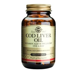 solgar cod liver oil vitamin a&d 100 softgels