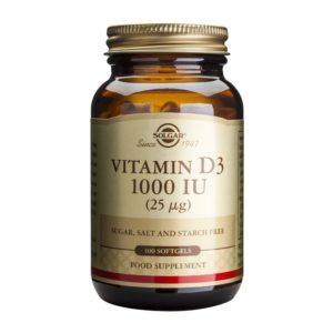 Solgar Vitamin D3 1000IU softgels