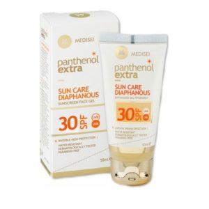 panthenol extra diaphanous spf 30 gel