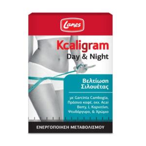 LANES Kcaligram Day & Night Βελτίωση Σιλουέτας 30 Πράσινα Δισκία & 30 Πορτοκαλί Δισκία