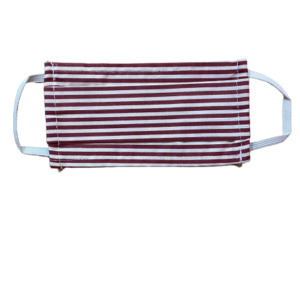 bordeaux stripes mask