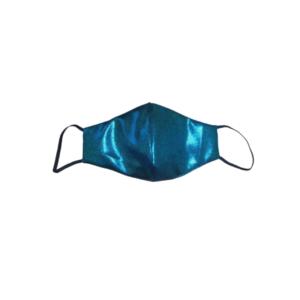 blue metallic mask
