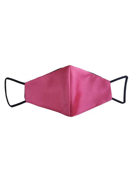 coral satin mask